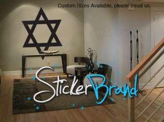 Vinyl Wall Decal Sticker Jewish Star of David