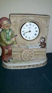 LINDEN CLOCK CERAMIC MADE IN JAPAN