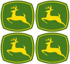 John Deere Logo Vinyl Decal Sticker Set   4 logos   each 1.5 wide