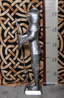 Foot SILVER Suit of Armor Knight   Jousting