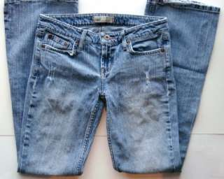 Lei Junior Girls Blue Denim Distressed Jeans size 3