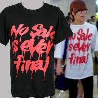 New No Sale Print Graphic Tee T Shirt M L 2NE1 Shinee