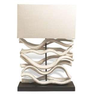 Kalay Modern Bleached White Vine Natural Lamp