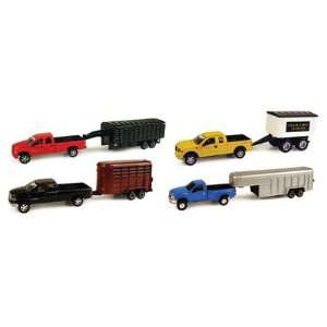 Ford and Dodge Truck Trailer Assortment Toys & Games