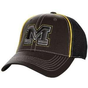 World Michigan Wolverines Charcoal Navy Blue Linerider Flex Fit Hat