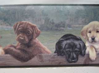 LABRADOR RETRIEVER PUPPIES DOGS Wall Border 6 7/8