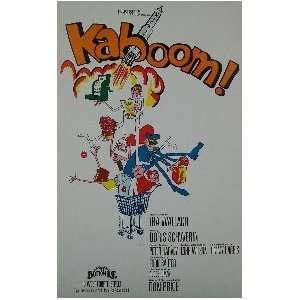KABOOM (ORIGINAL BROADWAY THEATRE WINDOW CARD)