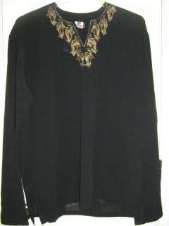 NWT black georette kurti top tunic blouse shirt indian outfit yellow