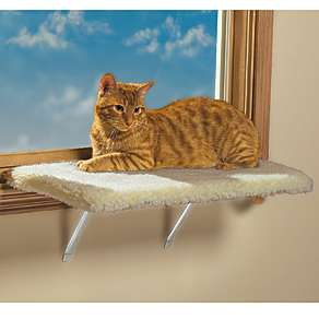 KITTY CAT PET WINDOW SHELF plush soft bed cover LARGE or REGULAR SIZE