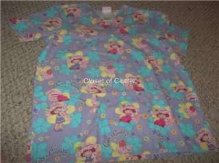 Strawberry Shortcake Cartoon Character Uniform Scrubs Top Med.