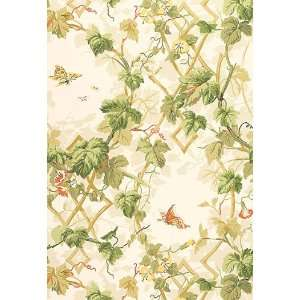 Leafy Arbor Parchment by F Schumacher Wallpaper