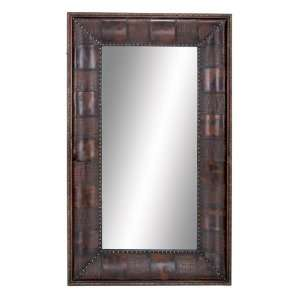 Classy Decorative Wood Leatherette Large Wall Mirror