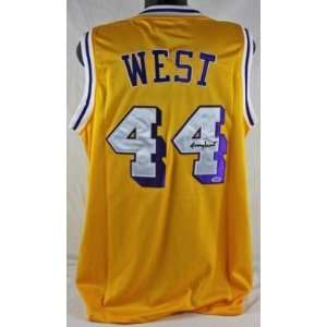 LAKERS JERRY WEST AUTHENTIC SIGNED HOME JERSEY PSA/DNA