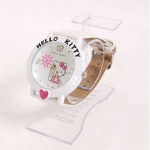 Hello Kitty Girl Wristwatch Wrist Watch Band White Toys
