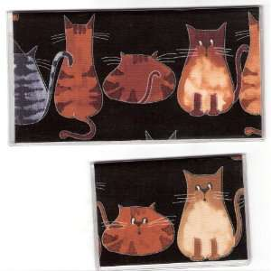 Checkbook Cover Debit Set Kitty Cat Tails
