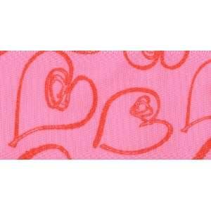 Venus Ribbon V15416 D12 1 1/2 Inch Doodle Heart SF Satin