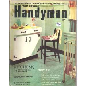 THE FAMILY HANDYMAN~MAGAZINE~MARCH 1956 VARIOUS Books