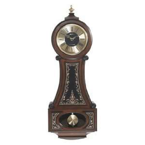 Style Solid Alder Wood Wall Clock with Antique Finish