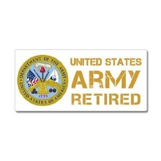 United States Army Retired Sticker Automotive