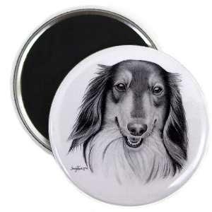 COLLIE Lassie DOG Pencil Sketch Art 2.25 Fridge Magnet