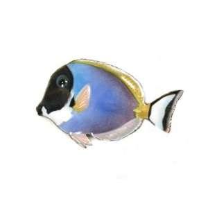 Bovano Enamel Wall Art Home Decor Blue Surgeonfish Fish