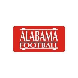 License Plate   ALABAMA FOOTBALL BAR RED 03/SILVER 00