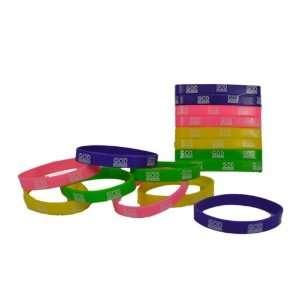 Lot of 16 God Squad Religious Rubber Bracelets Wristbands