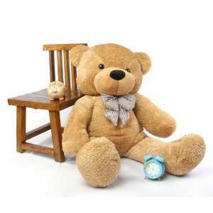 Shaggy Cuddles Soft and Huggable Amber Teddy Bear 46in Toys & Games