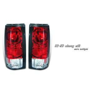 Chevy S10 Pickup Truck 82 93 Red Clear Altezza Tail Light