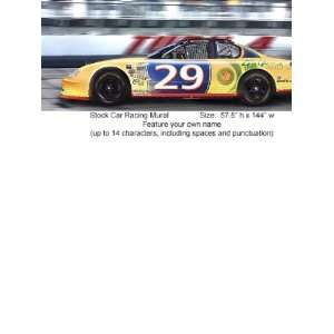 Who Let the Kids Out Stock Car Racing Mural WK9702M Home Improvement