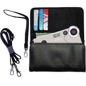 Black Purse Hand Bag Case for the Casio Exilim EX S1 with