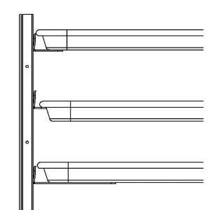 Continental Refrigerator 50 P001A Full Stainless Steel Rim Support
