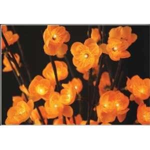 The Light Garden Battery Operated Lighted Amber Plum Flower Branch