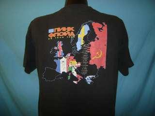 vintage PINK FLOYD EUROPEAN TOUR 1989 RUSSIAN t shirt L