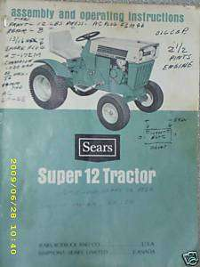 917.25311  Super 12 Garden Tractor  Owners Manual