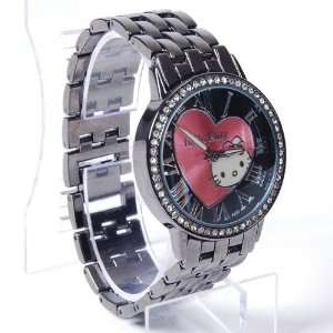 Hello Kitty Girls Steel Watch Wristwatch Black Toys & Games