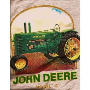 John Deere Model A Tractor T Shirt Size XL Everything