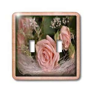 Bunch of Pink Roses   Light Switch Covers   double toggle switch