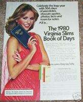 79 Virginia Slims cigarette 1980 Book of Days PRINT AD
