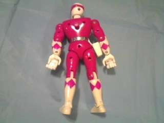 1994 PINK 8 POWER RANGER KARATE KICKIN ACTION FIGURE TOY