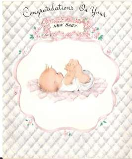 Vintage Baby Congratulations Card Unique & Unused!