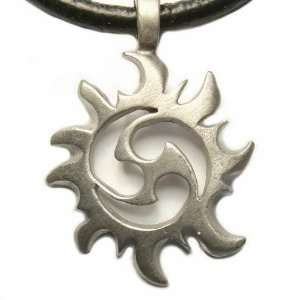Riders of the Storm Pewter Pendant on Adjustable Necklace