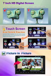 INCH TFT TOUCH SCREEN IN DASH CAR DVD PLAYER GPS NAVIGATION BT