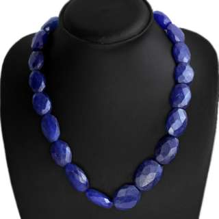 GENUINE PRECIOUS 488.00 CTS NATURAL FACETED BLUE SAPPHIRE BEADS