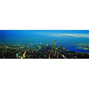 Panoramic Wall Decals   New York City Skyline 7 (4 foot