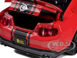 2012 SHELBY MUSTANG GT500 SUPER SNAKE RED W/BLACK 1/18 SHELBY
