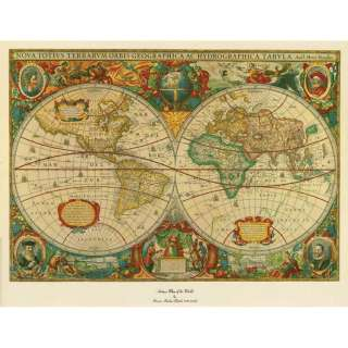 Trademark Global Old World Map Painting   Extra Large Artwork 75 220WM