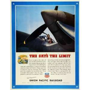 1943 Ad Union Pacific Railroad WWII War Production
