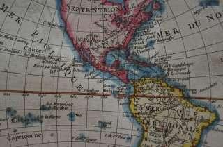 WORLD MAP TWIN HEMISPHERE AMERICA EUROPE ASIA AFRICA AUSTRALIA BONNE