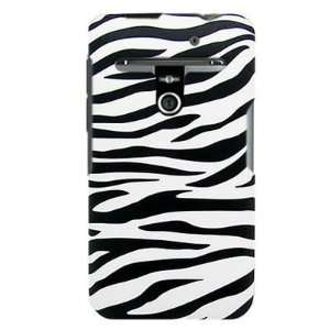 on Hard Plastic RUBBERIZED With WHITE BLACK ZEBRA Design Cover Sleeve